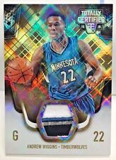 Andrew Wiggins 2015-16 Totally Certified Materials GOLD 4 color GU Patch #d 6/10