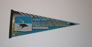 1995 NHL All Star Game pennant San Jose Sharks