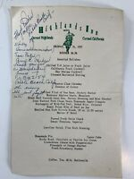 1957 Highlands Inn Carmel California Dinner Menu Vintage Original