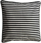 Cushion Cover Black & White Stripes 60cm 45cm square indoor outdoor euro pillow