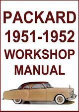 PACKARD 1951-1952 200, 250, 300, 400 WORKSHOP MANUAL