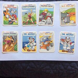 Nintendo Kellogg's Cereal Cards 8 Cards