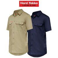 Mens Hard Yakka Koolgear Short Sleeve Work Shirt Air Vent Cool Twill Y07715