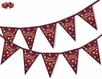 Merry Christmas Snowflakes and Stars Red Bunting Banner 15 flags by PARTY DECOR