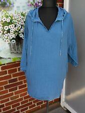 CECIL Damen Bluse ♥ Blau  Kapuze Oversized Gr. L ♥ NEU mit Etikett