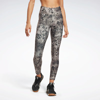 Reebok  Womens Modern Safari Lux Bold Leggings in leopard print