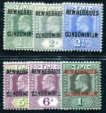 NOUVELLES HEBRIDES 1911 Yvert 20, 22-26 * ungebraucht 63€(F3814