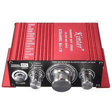 Mini 2CH Auto Home 2CH Hi-Fi Stereo Car Amplifier CD DVD MP3 Player Booster 12V