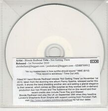 (GU144) Blonde Redhead, Not Getting There - 2010 DJ CD