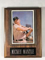 1953 BOWMAN MICKEY MANTLE REPRINT NEW YORK YANKEES #59 NOVELTY Wood Plaque