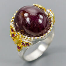 Handmade Natural Ruby 925 Sterling Silver Ring Size 8/R121250