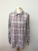 The North Face Women's Long Sleeve Check Casual Shirt Size L Hiking