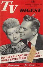TV DIGEST (12/6-12/1952) - LUCILLE BALL & DESI ARNAZ -