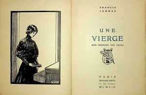 🌓 FRANCIS JAMMES Une Vierge ex de tête sur Japon 1919 suite de 3 bois par Gayac