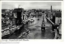 Danzig Gdansk AK 1943 Langebrücke Krantor Schiffe Polen Polska 1508220