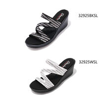 Skechers Rumblers-Mega Flash Memory Foam Womens Wedge Cali Sandals Pick 1