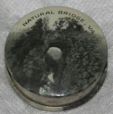 ANTIQUE NATURAL BRIDGE,VIRGINIA tape measure-RARE in BLACK & WHITE