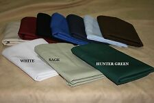 20x72 Body Pillowcase 50/50 Poly Cotton Percale available in 10 solid colors