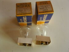 PAIRE DE LAMPES NORMA 6V 36W ARQUE INCOLORE NEUF ORIGINE