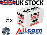 5 Pack: Ilford XP2 Super 400 35mm 36 Exposures Black & White Negative Film