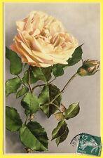 cpa V. Martin ROMMEL & Co STUTTGART Fantaisie FLEURS ROSE et Bouton BLUMEN ROSEN