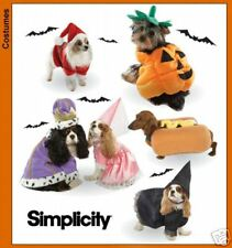 S 3952 Dog Costume Pumpkin Hotdog King Queen Pattern