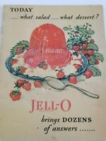 Vintage 1928 Jell-O Recipe Advertising Booklet Jello Brings Dozens of Answers