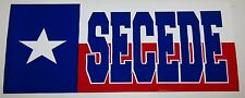 """Wholesale Lot of 6 Texas Secede State Flag Bumper Sticker Decal 3.75""""x7.5"""""""