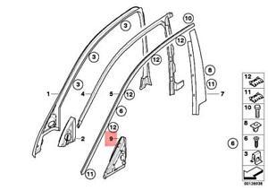 Genuine BMW E60 E61 520d 520i 523i Seal Outer Left Mirror Triangle 51337033637