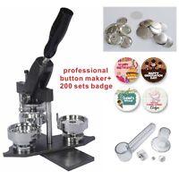 "25mm 1"" Interchangeable Button Maker Machine Badge Material KIT"