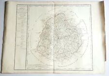 Dépt 72 - Grande Carte Aquarellée des Cotes d'Armor 79x56 cm de 1790 (1818)