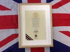 Oath Of Allegiance The Royal Hussars (framed with Cap Badge)