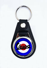 VESPA MOD FAUX LEATHER KEY RING/KEY FOB. SCOOTER KEYRING