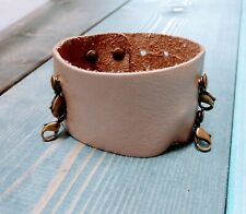 Lenny & Eva Wide Cuff Leather Bracelet - Retired