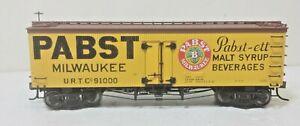 PABST Railroad 36' Billboard Wood Beer Reefer URT 91000 Metal Wheels Atlas
