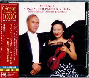 TEIKO MAEHASHI-MOZART VIOLIN SONATAS NO. 24. 25. 30 & 42-JAPAN CD Ltd/Ed B63