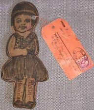 WWII USS California Honolulu, Hawaii Leather Doll Tourist Souvenir 2-cent Stamp