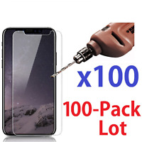 100x Wholesale Lot Tempered Glass Screen Protector for iPhone X 7, 8  7 Plus 50x