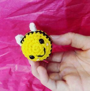 Crocheted Mini Bee Amigurumi Stuffed Toy