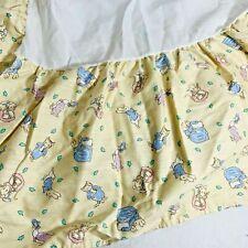 New ListingBeatrix Potter Peter Rabbit CribSkirt Youth Dust Ruffle Crib Skirt Vintage