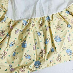 Beatrix Potter Peter Rabbit CribSkirt Youth Dust Ruffle Crib Skirt Vintage