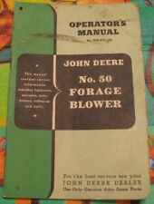 John Deere No. 50 Forage Blower Operator's Manual No. Om-E13-350