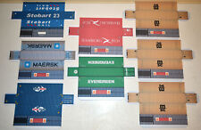 8x 40FT Containers Card OO Gauge - Set 1
