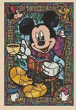 Counted Cross Stitch MICKEY MOUSE Tea Time Stained Glass-COMPLETE KIT #10-62 KIT