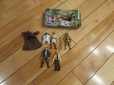 "Star Wars Lot of 5 4"" Figures From 2000's and Collector Tin to Store"