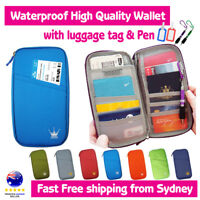 Travel Wallet Passport Holder Card Organiser Bag iPhone XS Case Pouch Tag Pen