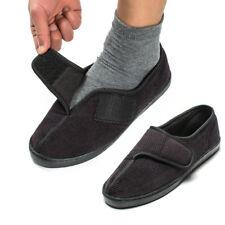 Men's Diabetic Arthritis Slippers Memory Foam Adjustable Shoes W/