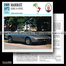 #076.13 MASERATI GHIBLI SS SPIDER V8 (1969-1972) - Fiche Auto Car card