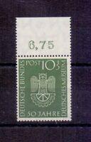 Bund 1952 - Deutsches Museum - MiNr. 163 postfrisch** Rand- Michel 30,00 € (554)