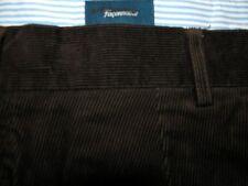MEN'S FACONNABLE-WAIST 42R- DARK BROWN-FLAT FRONT CORDUROY PANTS